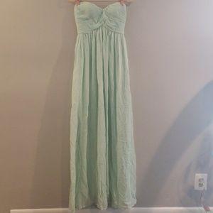 Pastel mint bridesmaid dress